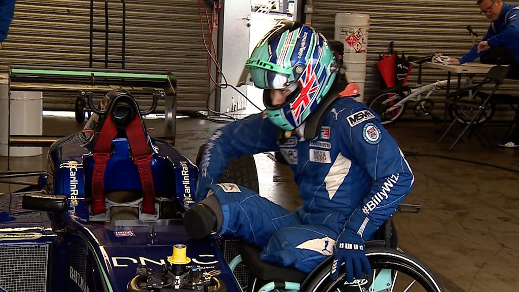 Billy Monger: Amputee racing driver back at Donington