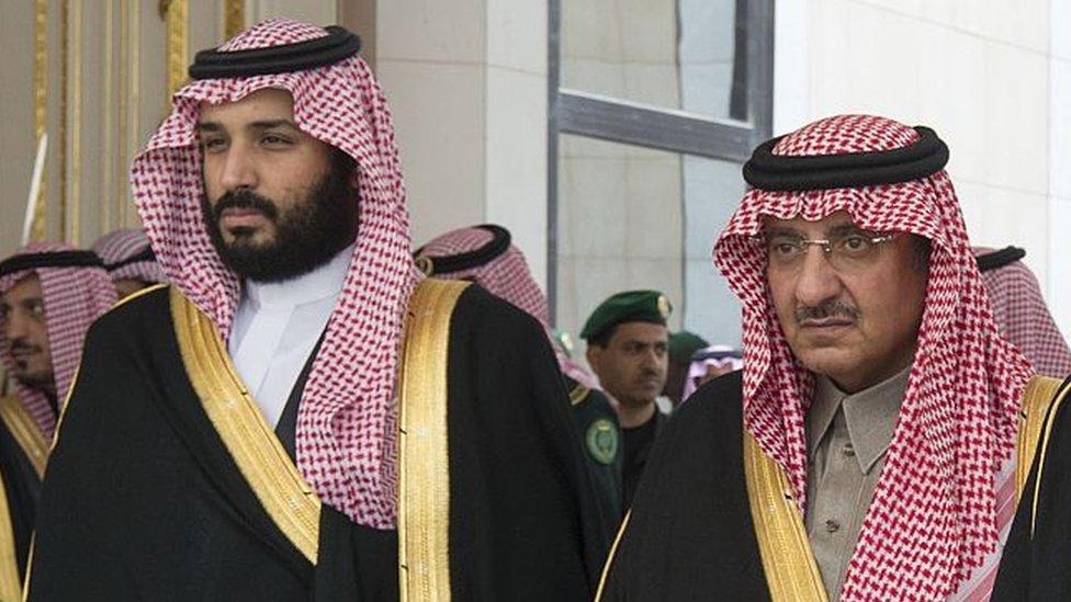 Mohammed bin Salman junto a Mohammed Bin Nayef.