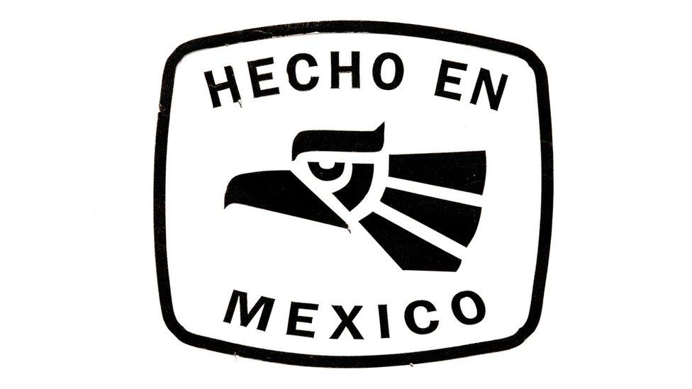 Un cartel de Hecho en México