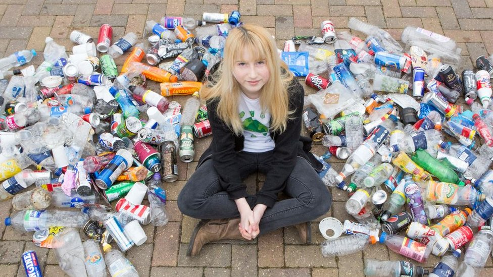 Nadia Sparkes and litter