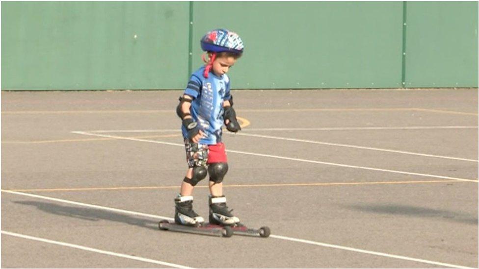 Bracknell cross-country skiers learn on wheels