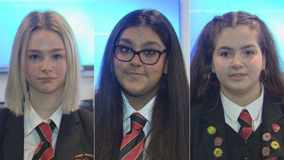 Schoolgirls Caitlin, Xena and Amy