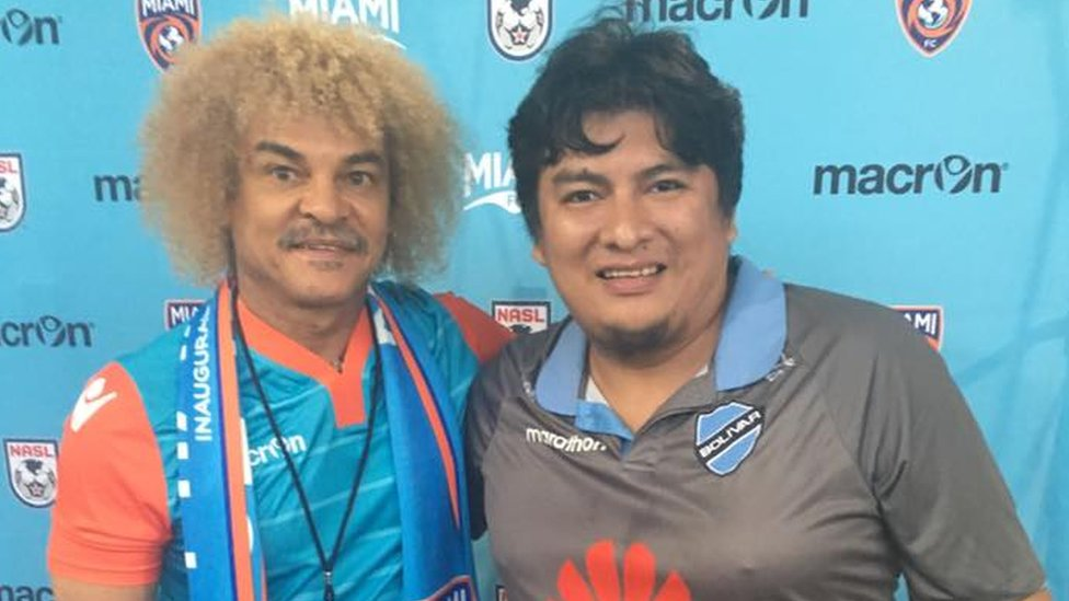 Pibe Valderrama y Boris Ivan Miranda
