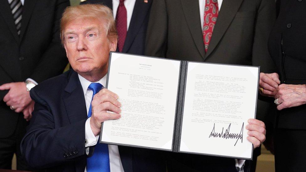 特朗普3月簽字,美國對中國加徵關稅