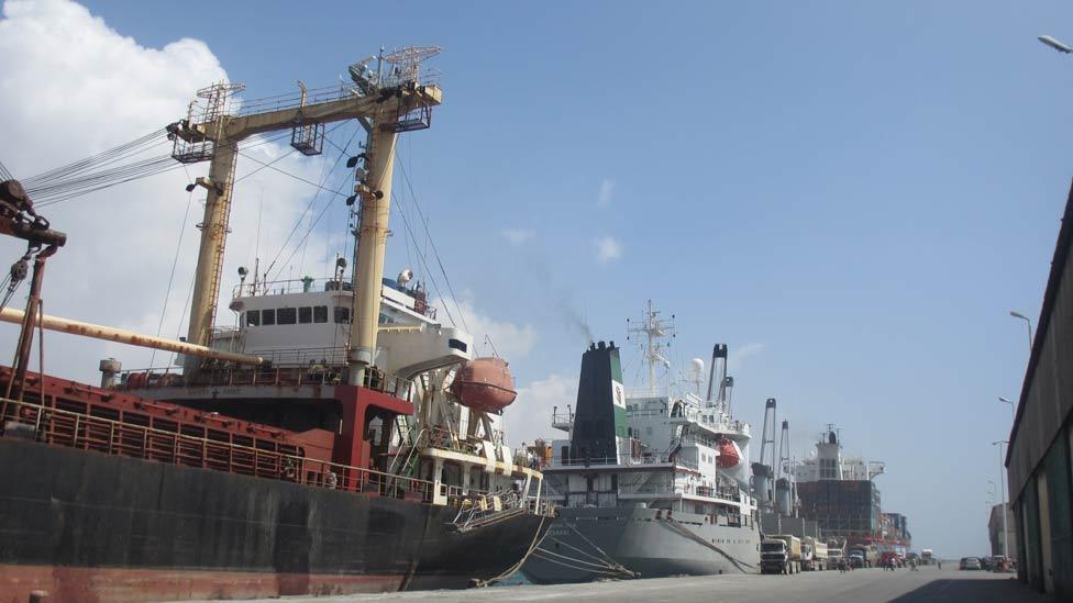 The Turkish brought order to the Mogadishu port