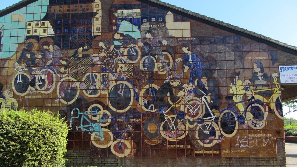 Bicycle Wall made by John Watson