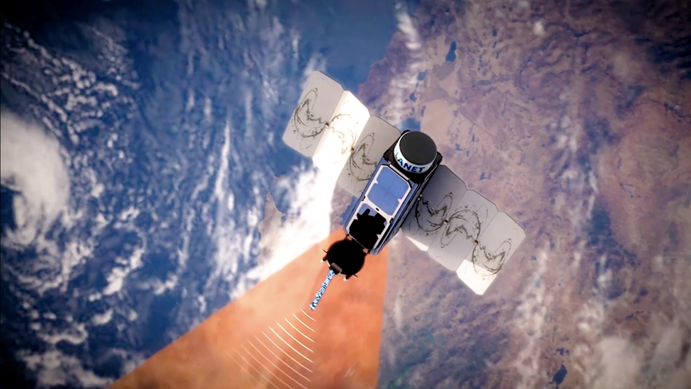 Artwork: Dove satellite