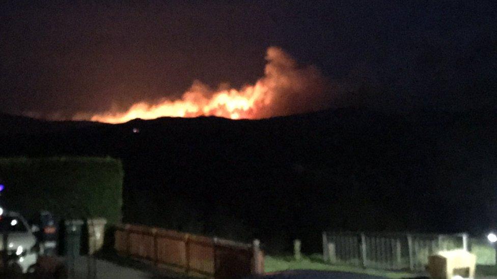 Forest fire at Dalmellington