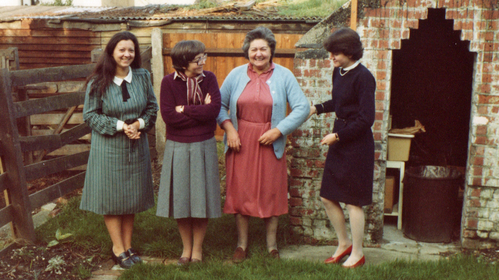 From left: Norma, Mrs Belcher Mary Francis, Mary Belcher