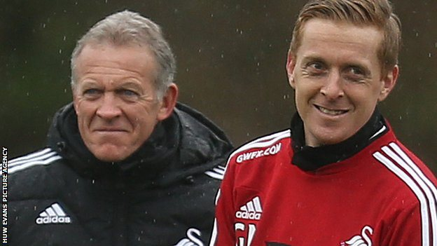 Alan Curtis a Garry Monk