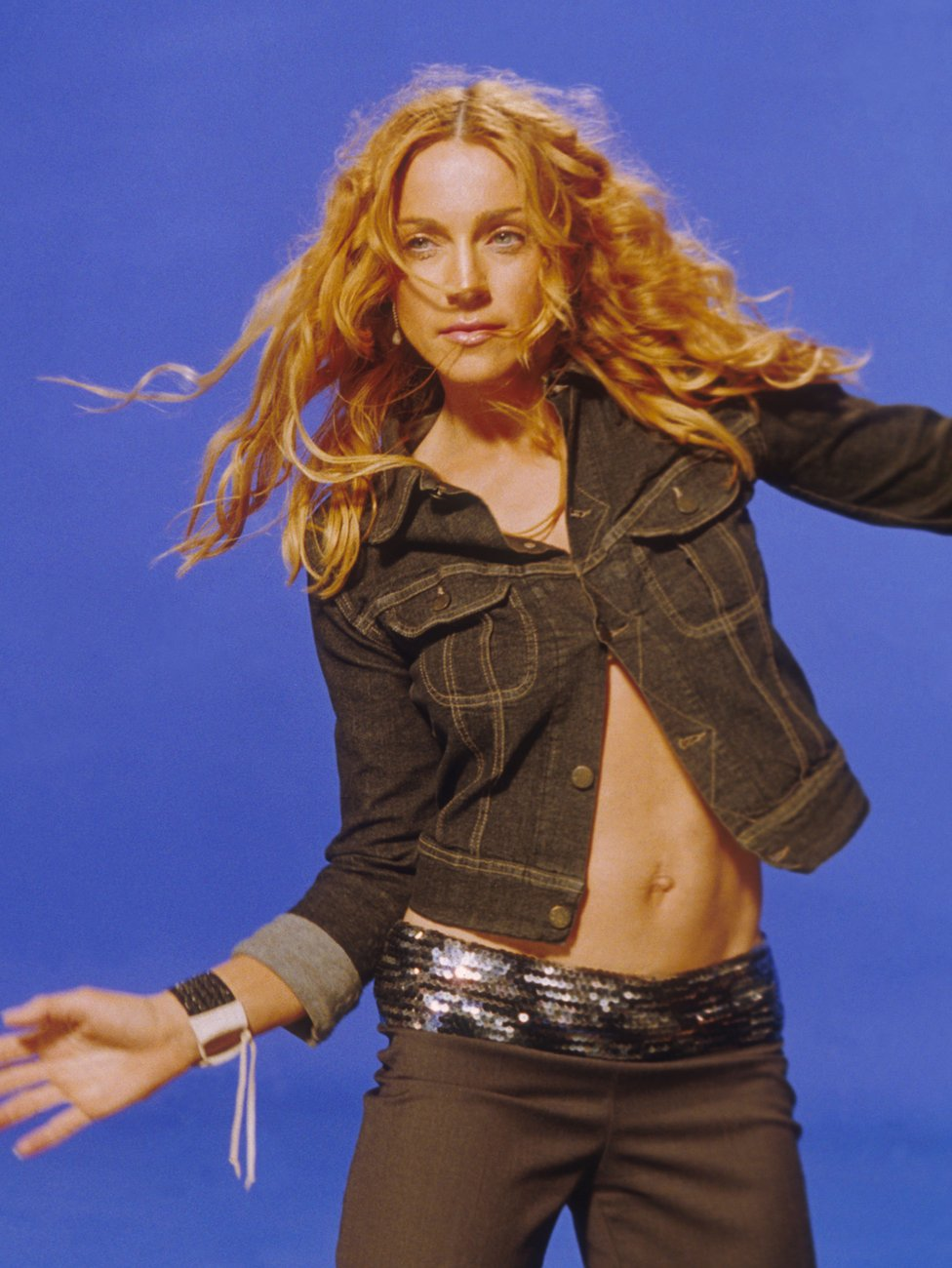 Madonna on the set of her 'Ray of Light' video in 1998