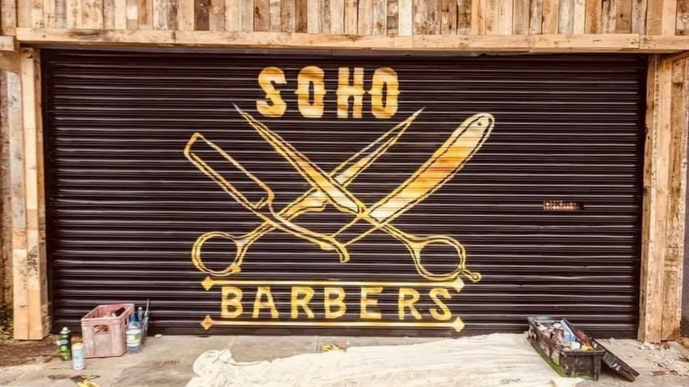 Soho Barbers' shop