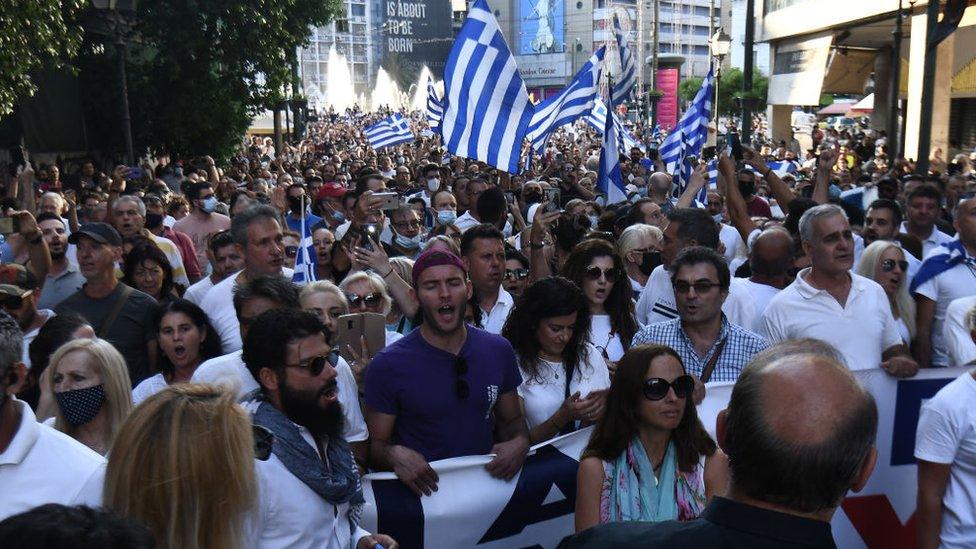 متظاهرون في اليونان
