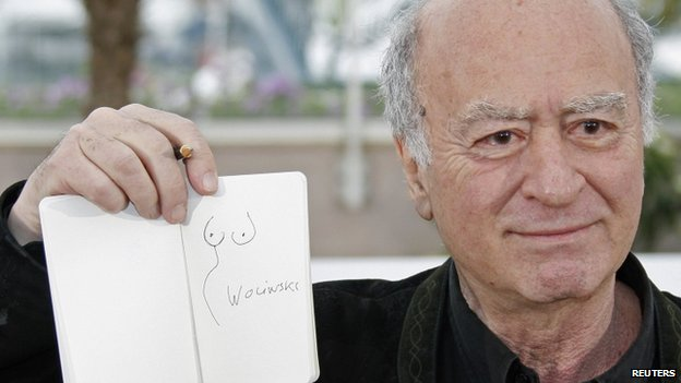 George Wolinski with one of his drawings. Photo: May 2008