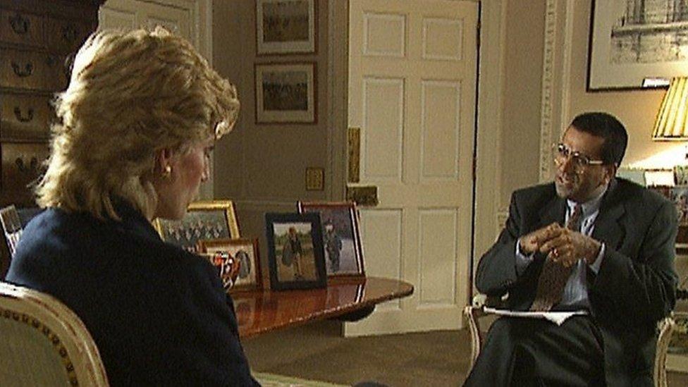 La princesa Diana y Martin Bashir