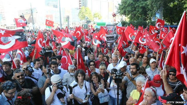 There have also been protests in Ankara against the Kurdistan Workers' Party, also known as the PKK