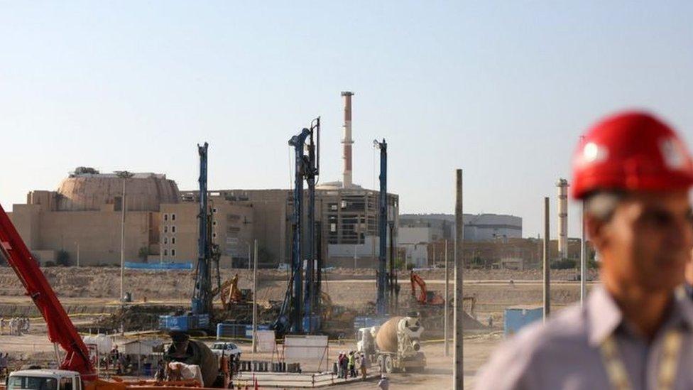 İran'ın Buşehr kenti yakınlarındaki nükleer tesisi
