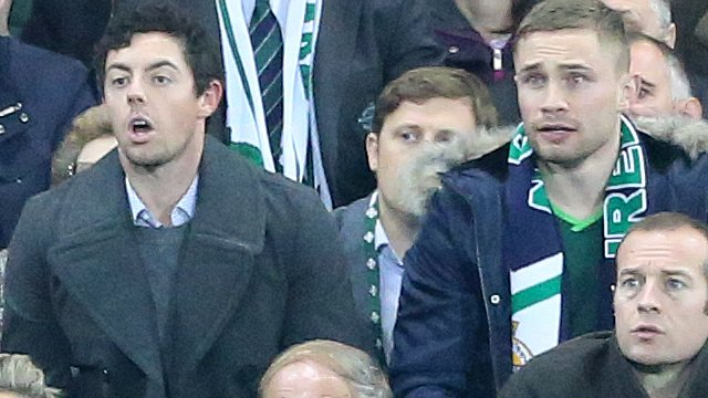 Rory McIlroy with Carl Frampton at Windsor Park
