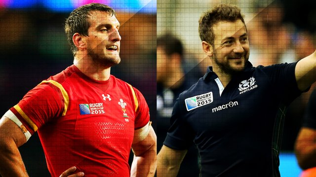 Wales and Scotland captains Sam Warburton and Greig Laidlaw at the Rugby World Cup