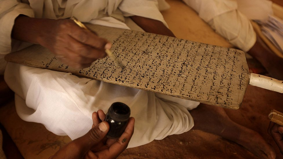 Alquran, papan, tulisan tangan
