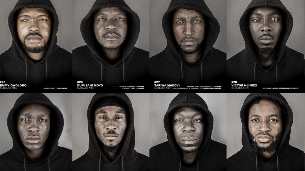 Why 56 black men are posing in hoodies
