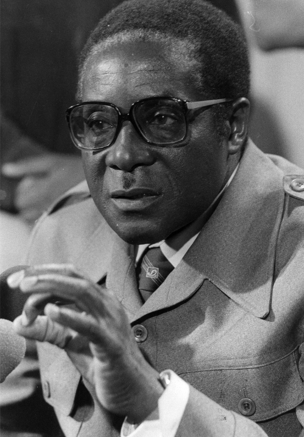 Robert Mugabe in London during talks on Rhodesia in September 1979