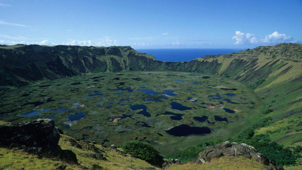 Cráter del volcán Ranu Kau.