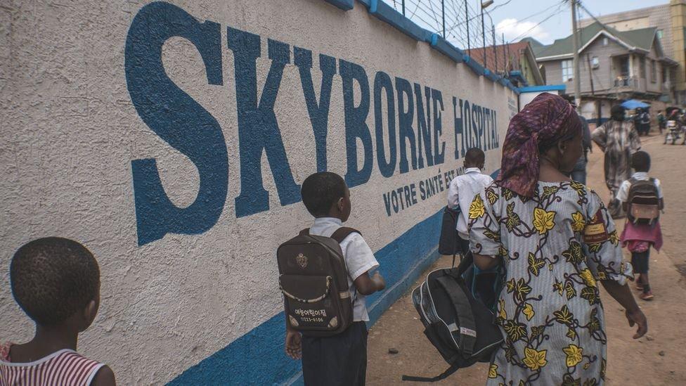يوجد بمدينة بوكافو مرافق صحية محدودة