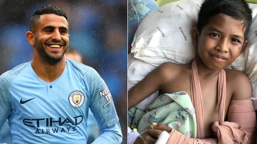 Riyad Mahrez and Rizky in hospital