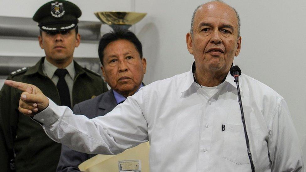 Arturo Murillo, ministro interino de Gobierno de Bolivia,