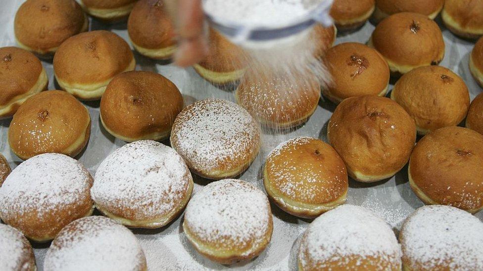 Deep-fried sugar-coated doughnuts