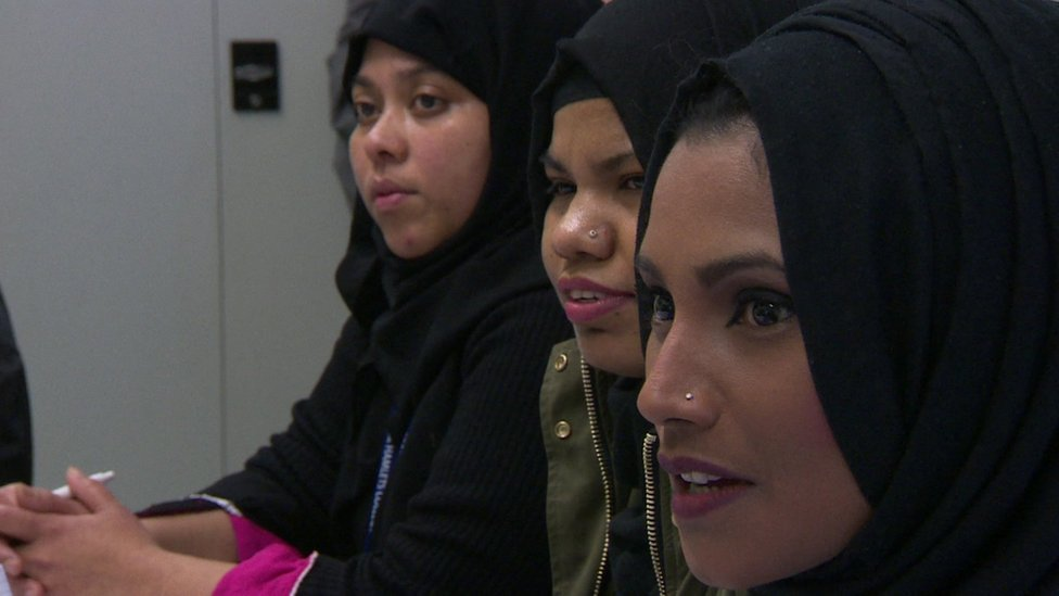 Women attend a training course
