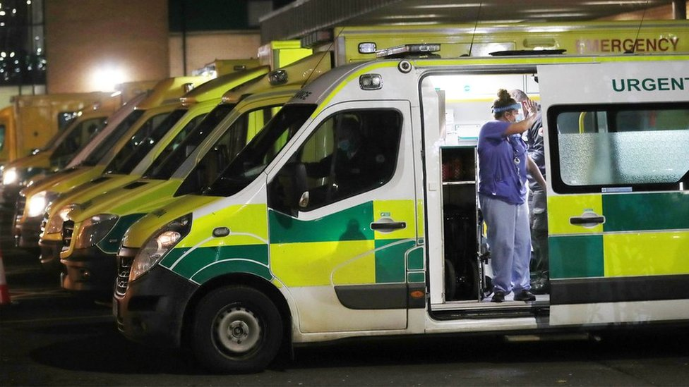 Antrim hospital had to treat patients in ambulances due to COVID pressure