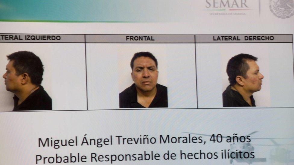 el arresto de Miguel Ángel Treviño Morales, en julio de 2013