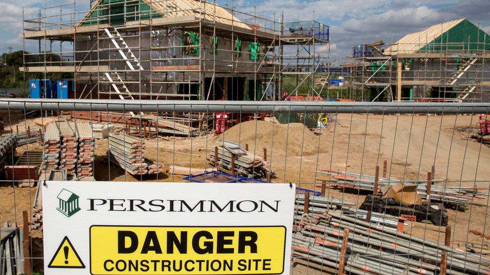 Persimmon construction site in Dartford