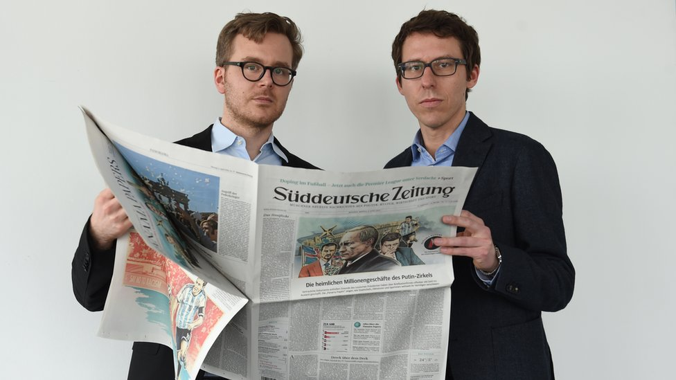 Frederik Obermaier (L) and Bastian Obermayer