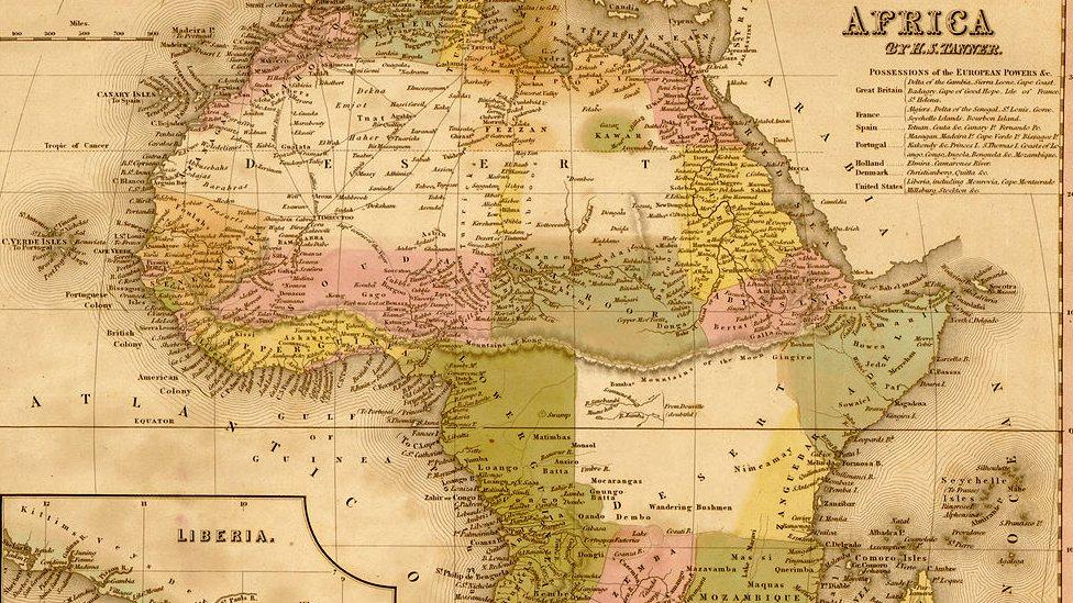 Mapa de África de 1848