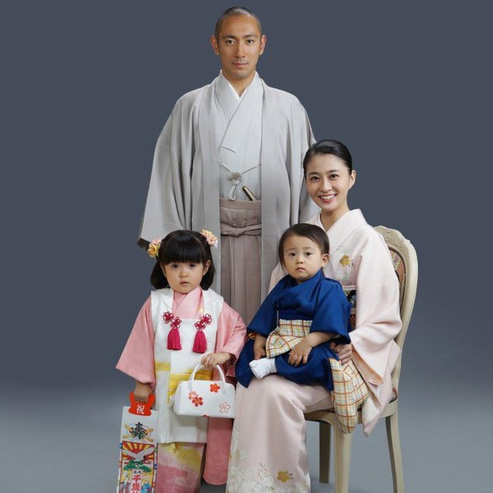 Mao Kobayashi with her family