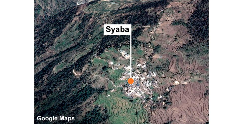 Aerial view of Syaba
