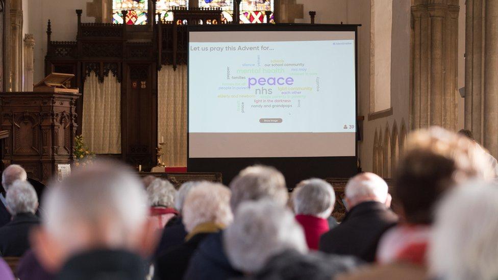 Congregation at Aylsham Parish Church