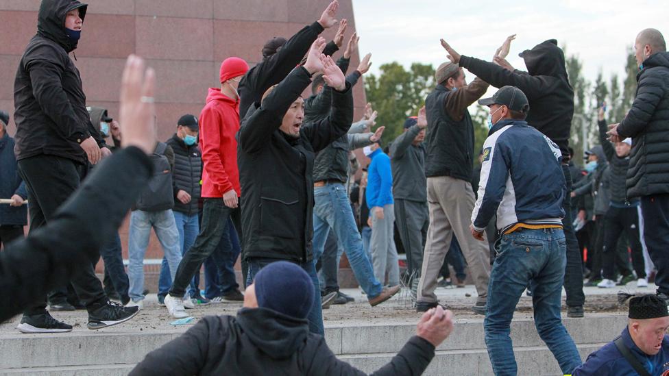 Stolknoveniя v Biškeke