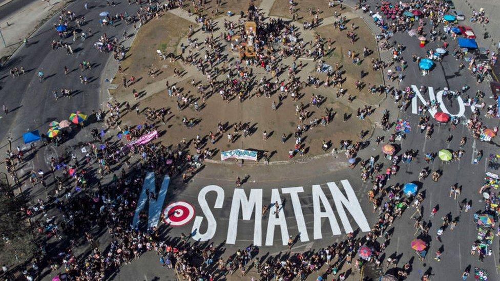Protestas feministas en Chile