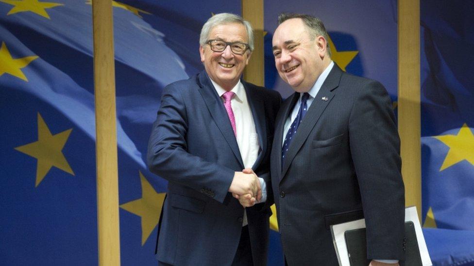 Alex Salmond and Jean-Claude Juncker