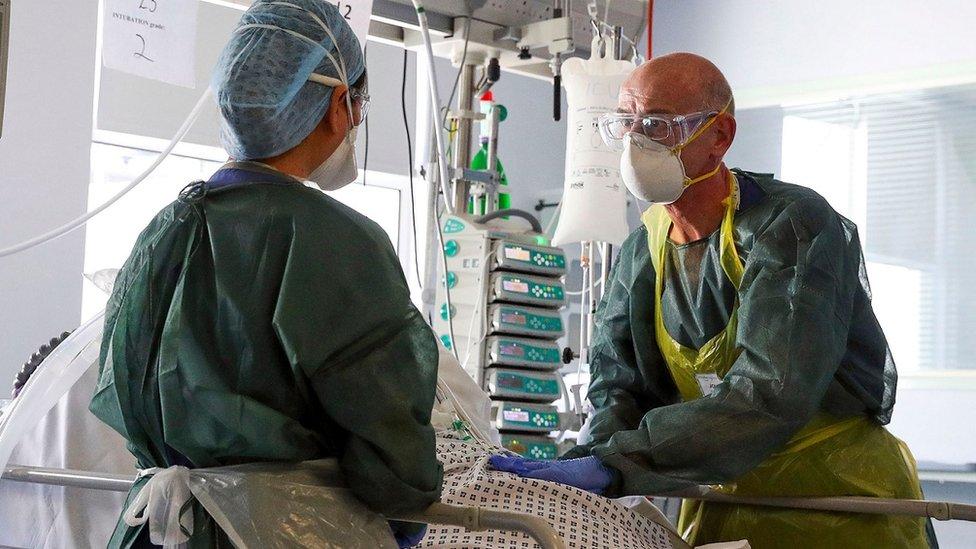 Medics wearing PPE
