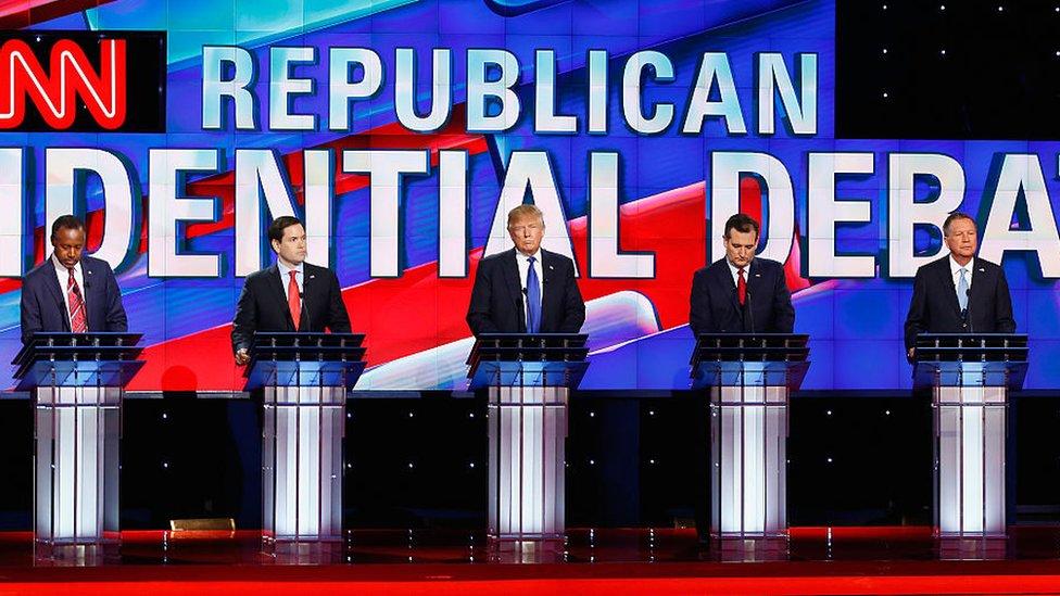 Algunos candidatos a las primarias republicanas en 2016