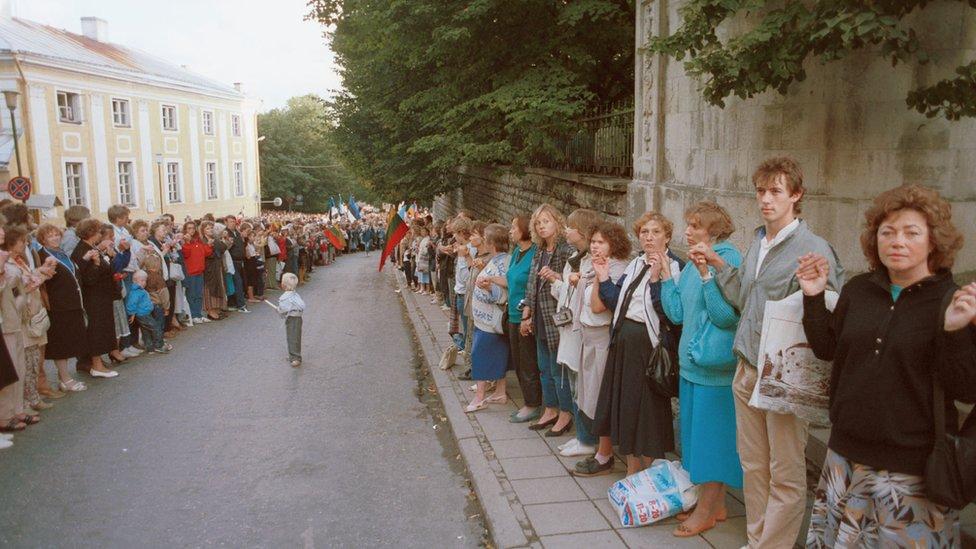 Cadena Báltica , 23 Agosto de 1989
