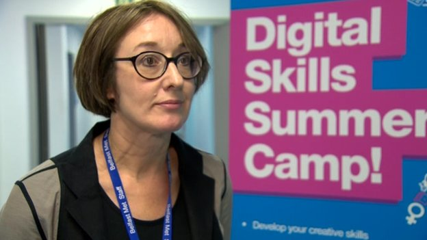 Tutor Clair Stevenson says there is no reason why more women should not work in the IT industry