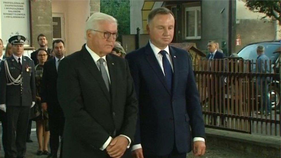 الرئيس الألماني فرانك فالتر شتاينماير والرئيس البولندي أندريه دودا