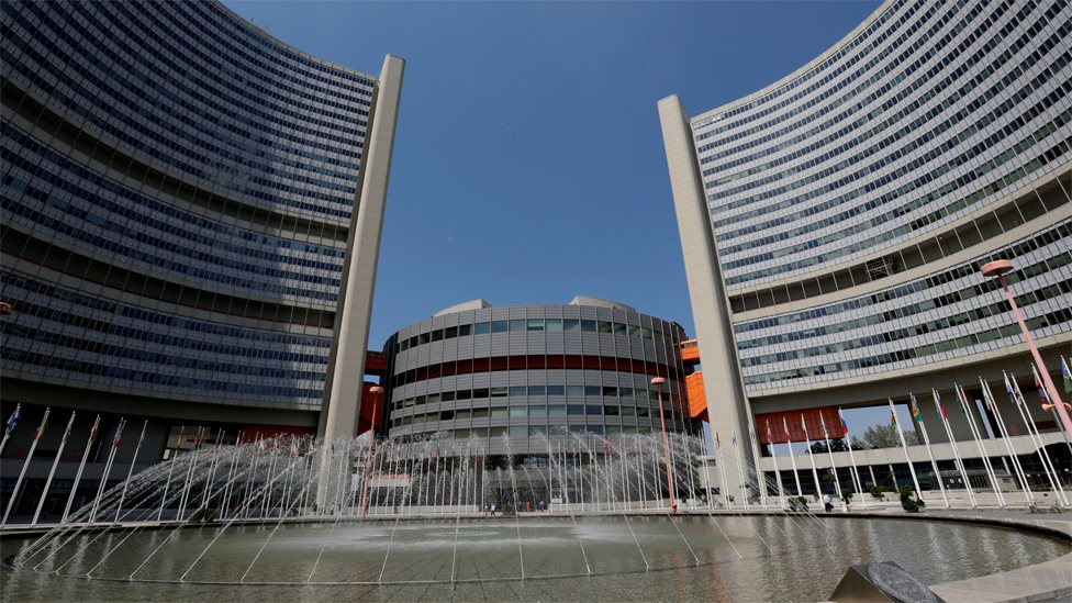 File photo of the headquarters of the International Atomic Energy Agency (IAEA) in Vienna, Austria (20 June 2019)