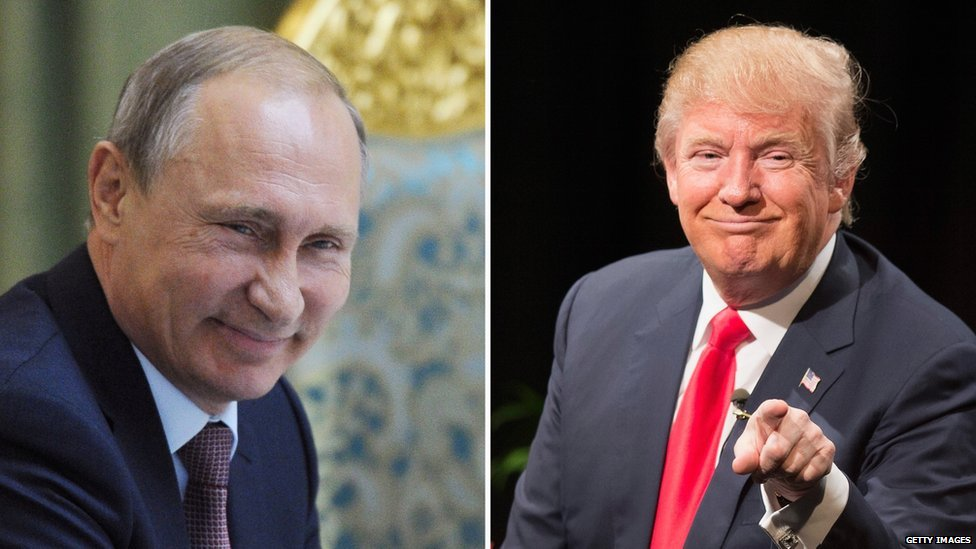 Donald Trump Honoured By Vladimir Putin S Compliments Bbc News